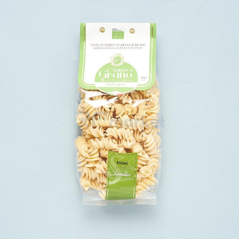 """Паста из твердых сортов пшеницы  """"L`Anima di Grano BIO"""" Festoni (500 гр)"""