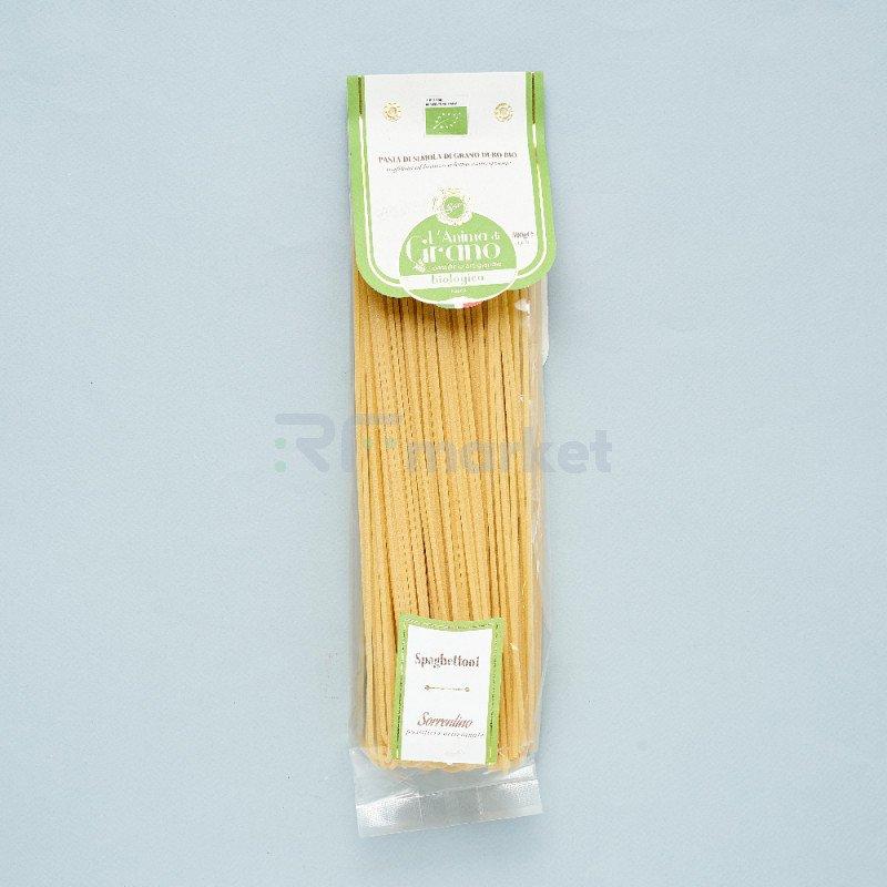 "Паста из твердых сортов пшеницы  ""L`Anima di Grano BIO"" Spaghettoni (500 гр)"