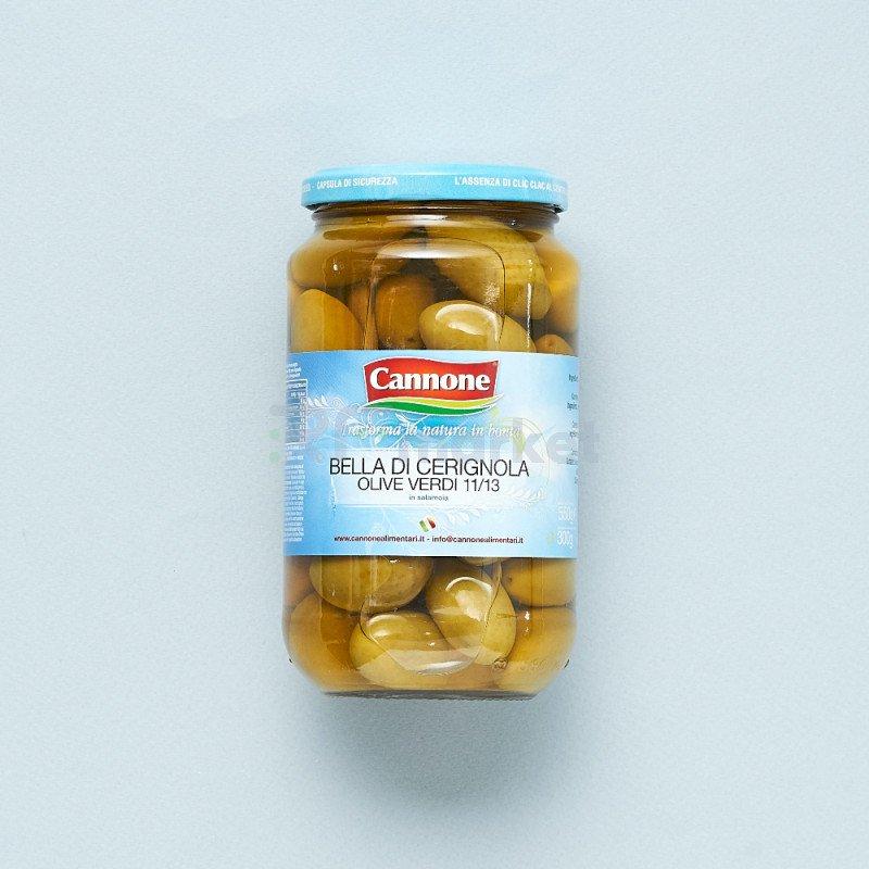"""Оливки Bella di Cerignola """"Cannone""""зеленые  (580 гр)"""