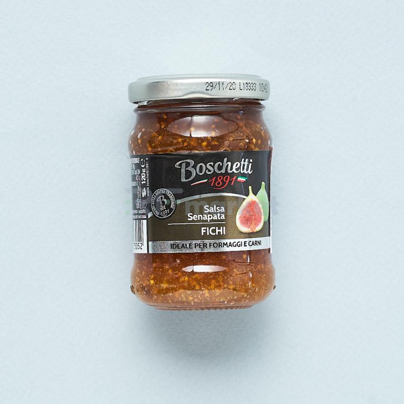 """Фруктовая горчица из Инжира""""Boschetti""""соус для сыра и мяса (180 гр)"""