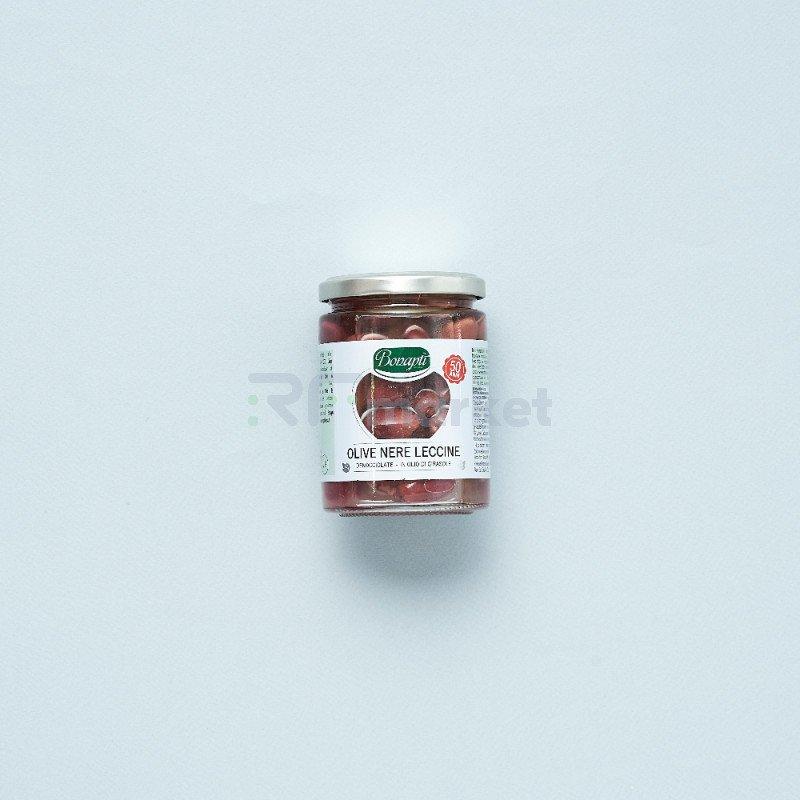 "Оливки ""Bonapti"" Leccine в масле без косточки (314 гр)"