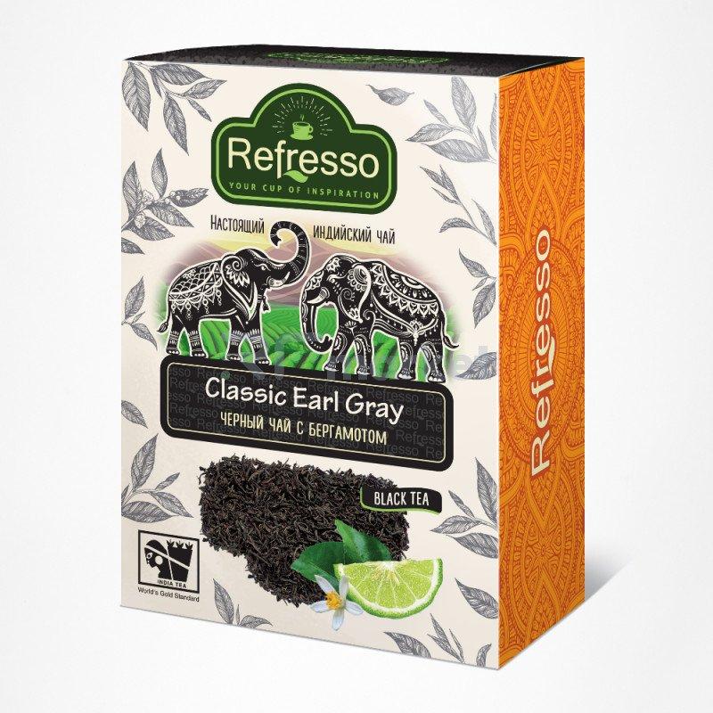 Чай Эрл Грей Ассам черный чай с бергамотом, 250 гр., Рефрессо/Refresso