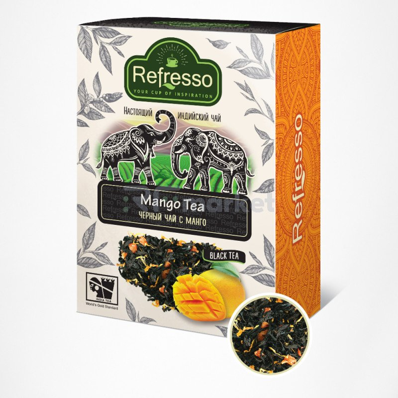 Чай Ассам черный с манго, 250 гр., Рефрессо/Refresso