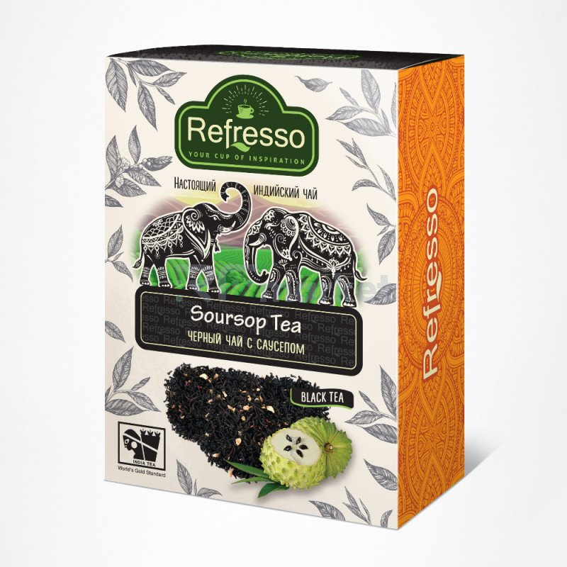 Чай Ассам черный с саусепом, 250 гр., Рефрессо/Refresso