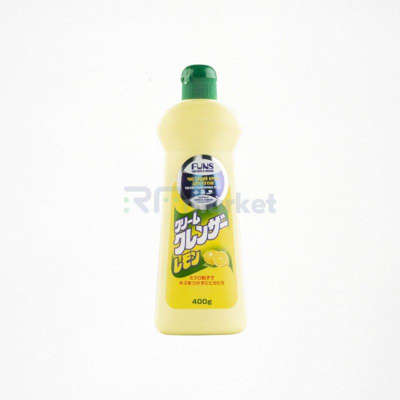 FUNS Крем чистящий для кухни и посуды с ароматом лимона