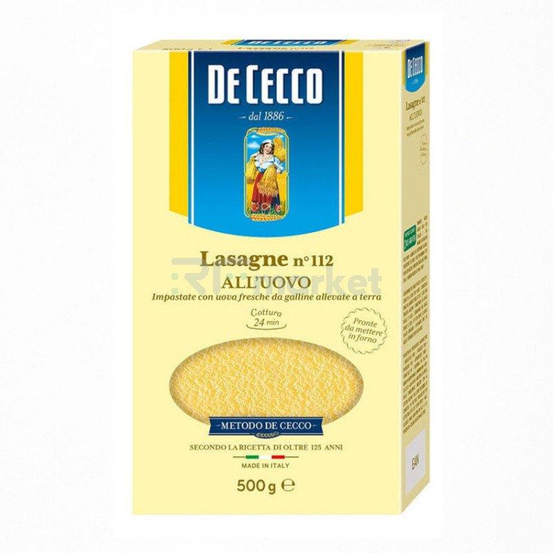 Макароны Лазанья №112, Де Чекко/De Cecco, Италия
