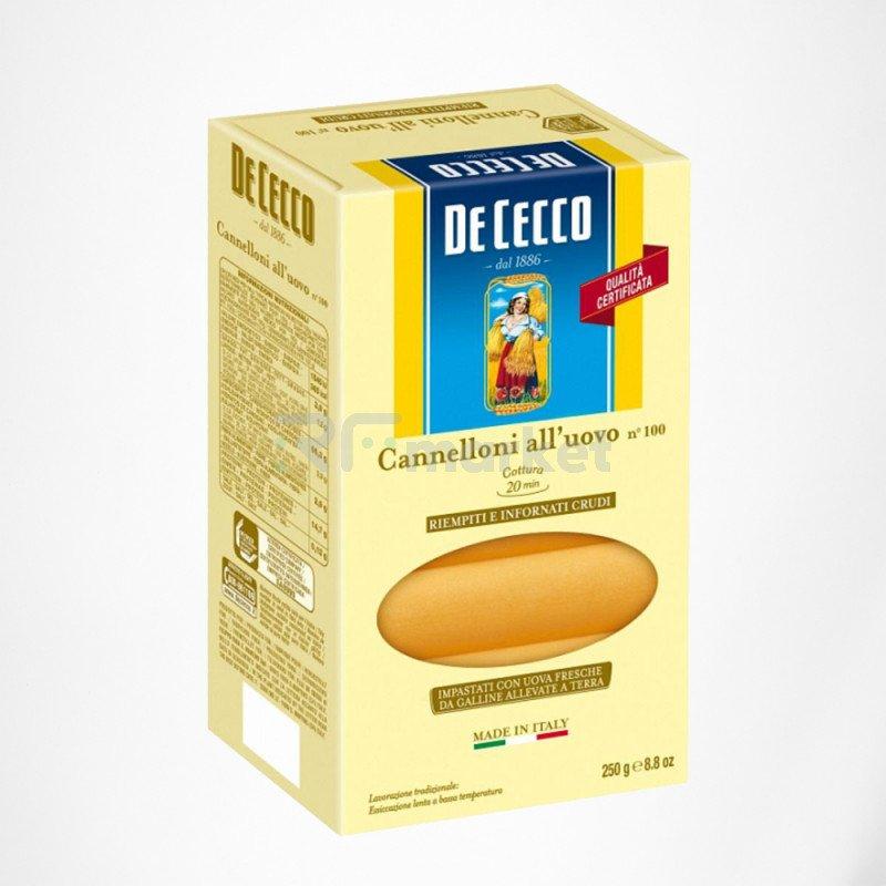 Макароны №100 Каннеллони, Де Чекко/De Cecco, Италия