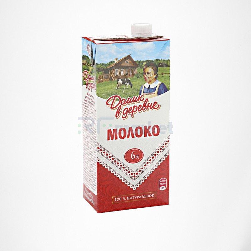 Молоко Домик в деревне 6% 950 г 1*12