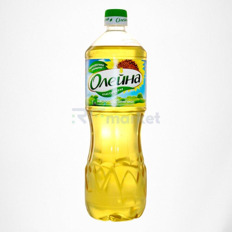 Олейна подсолнечное масло 1 л.