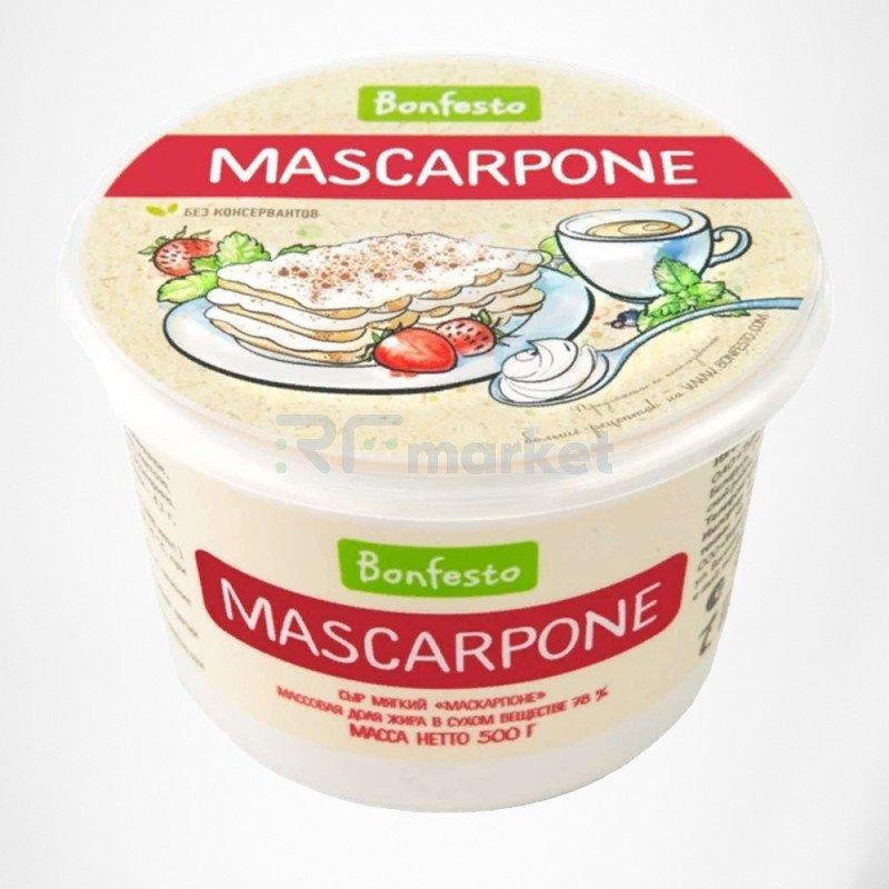 Маскарпоне 500 гр. Bonfesto 78% сыр