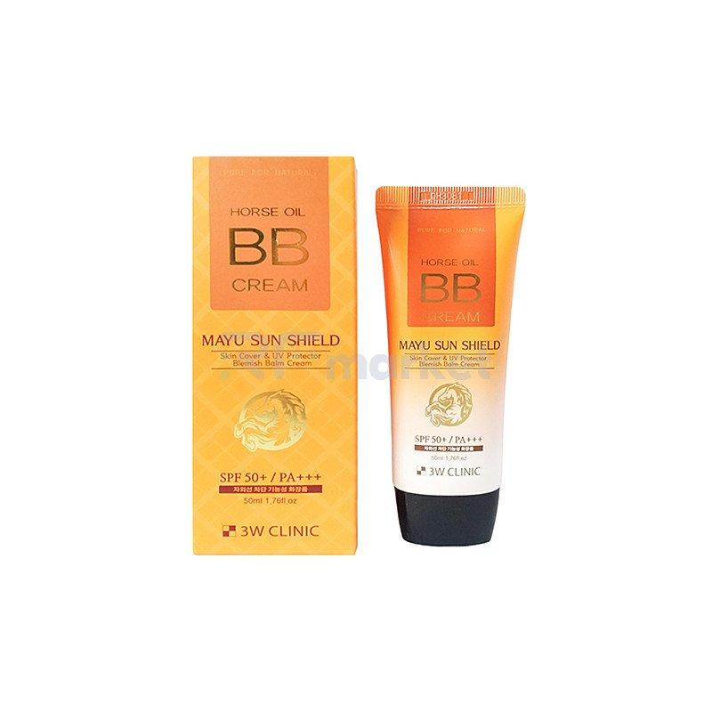 3W Clinic BB-крем на основе лошадиного масла - Horse oil BB cream, SPF 50 PA+++, 70мл