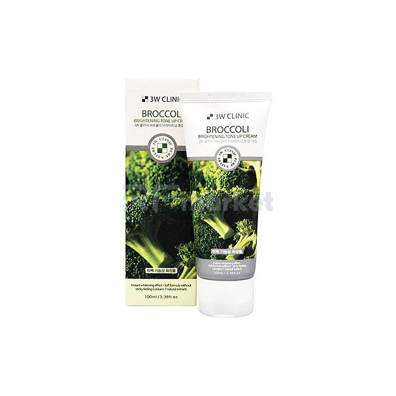 3W Clinic Крем осветляющий с экстрактом брокколи - Broccoli brightening tone up craem, 100мл