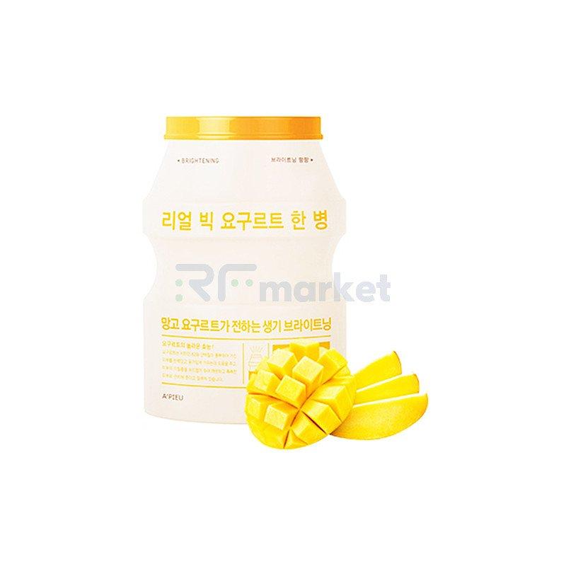 A'Pieu Маска для лица тканевая с манго - Real big yogurt one-bottle mango, 21г