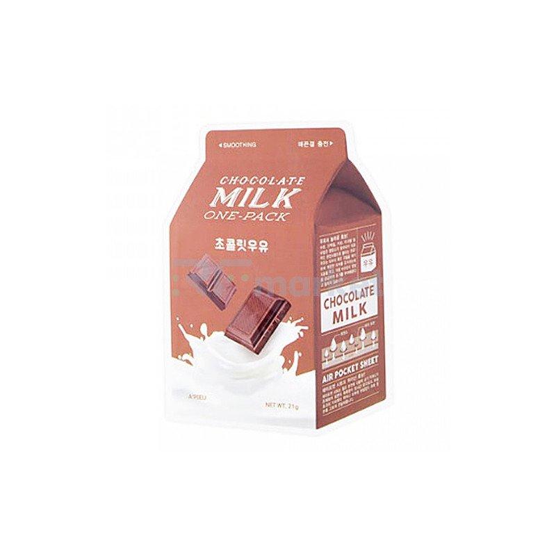A'Pieu Маска тканевая йогуртовая с экстрактом какао - Chocolate milk one-pack, 21г