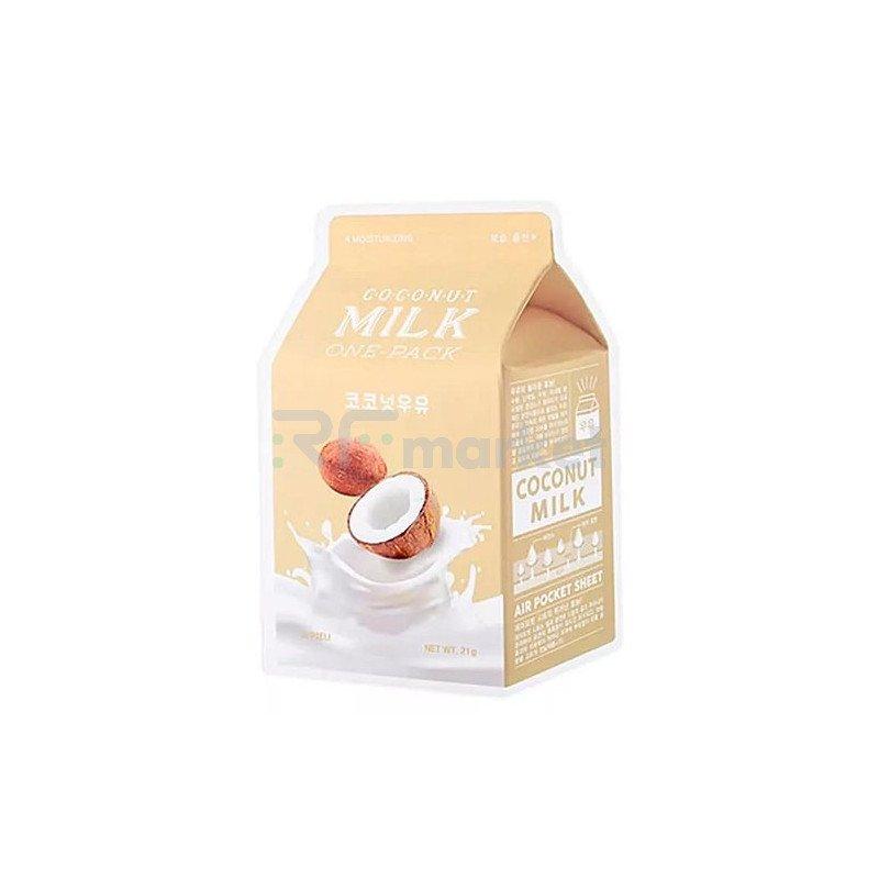 A'Pieu Маска тканевая увлажняющая с экстрактом кокоса - Coconut milk one-pack, 21г