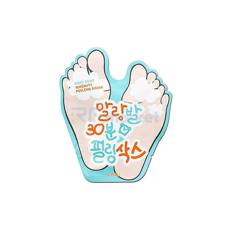 A'Pieu Пилинг-носочки - Soft foot 30 minute peeling socks, 40мл