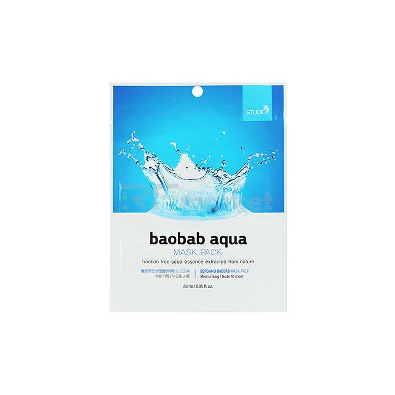 Bergamo Маска тканевая для лица с экстрактом баобаба - Mask pack, 28мл
