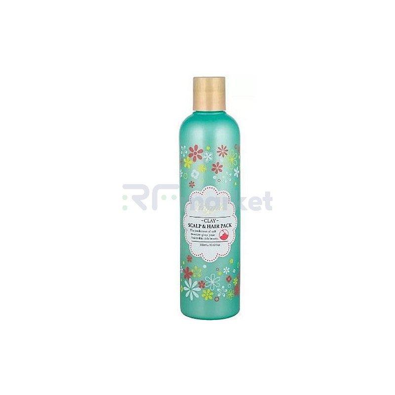 Bigaku Маска для интенсивного восстановления поврежденных волос - Laggie clay scalp&hair pack, 300мл