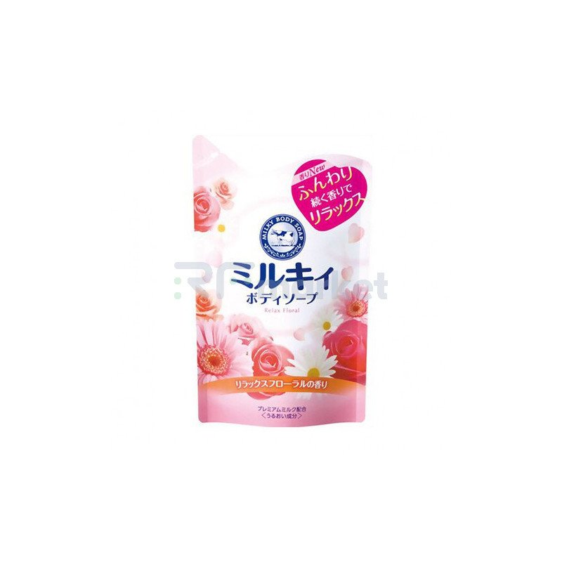 COW Мыло для тела молочное с ароматом цветов з/б -  Brand gyunyu sekken milky body, 400мл