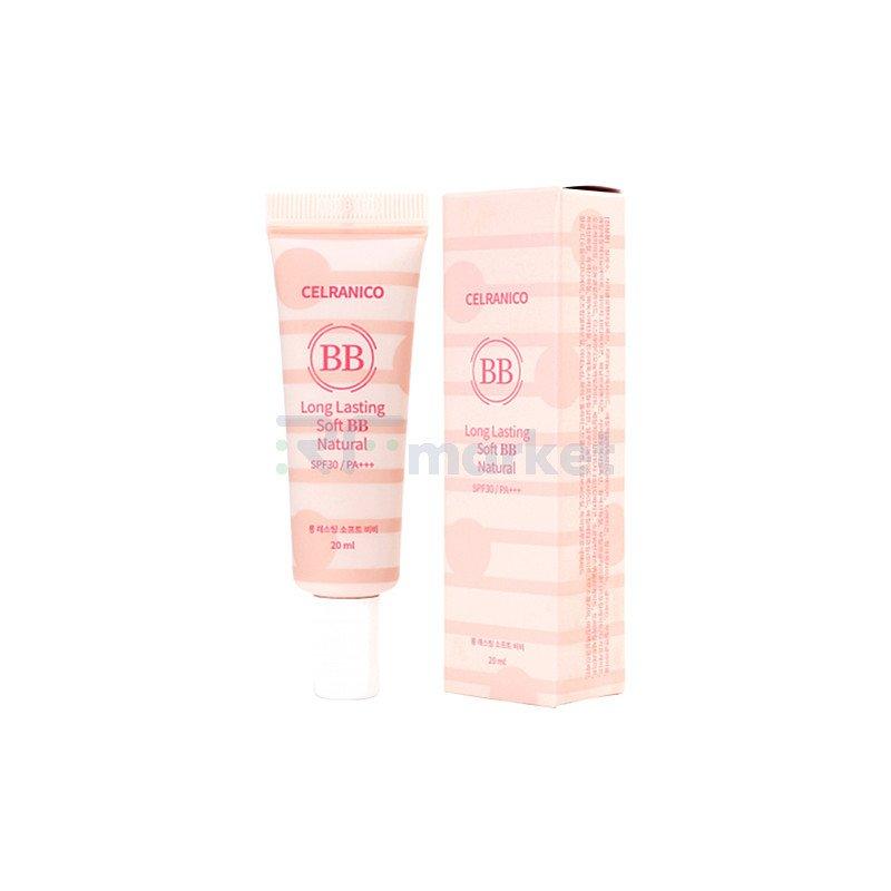 Celranico BB-крем стойкий с эффектом сияния - Long lasting soft natural  Bb Spf30/pa+++, 20мл