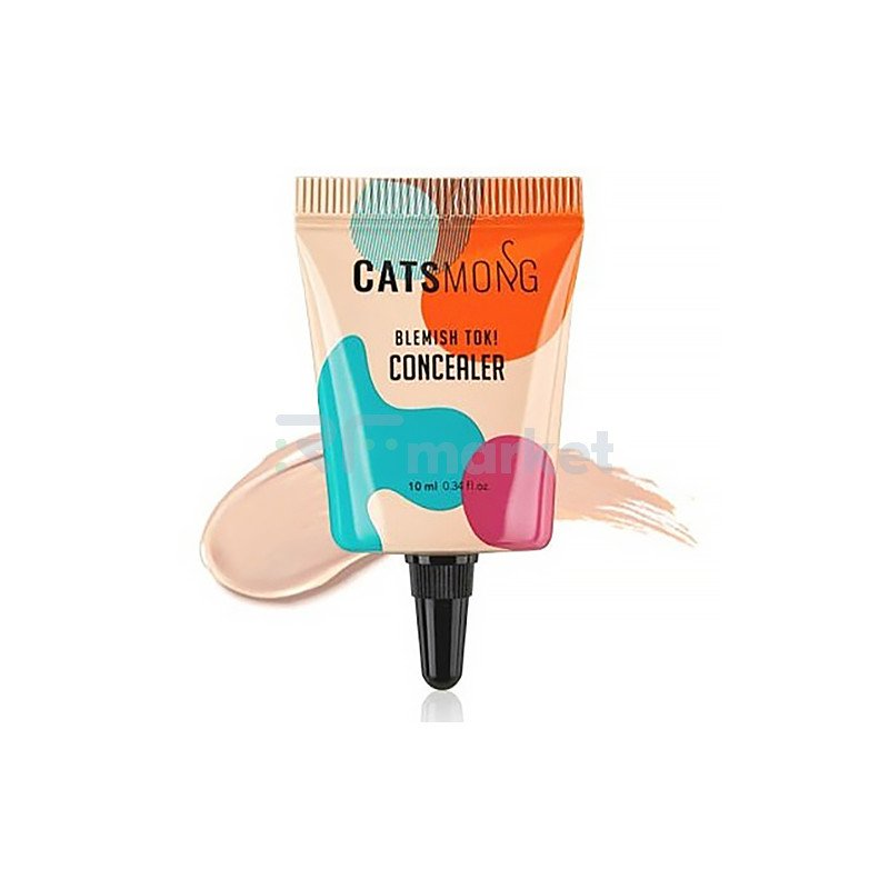 Catsmong Консилер увлажняющий (01 светло-бежевый) - Blemish TOK concealer soft beige, 10мл