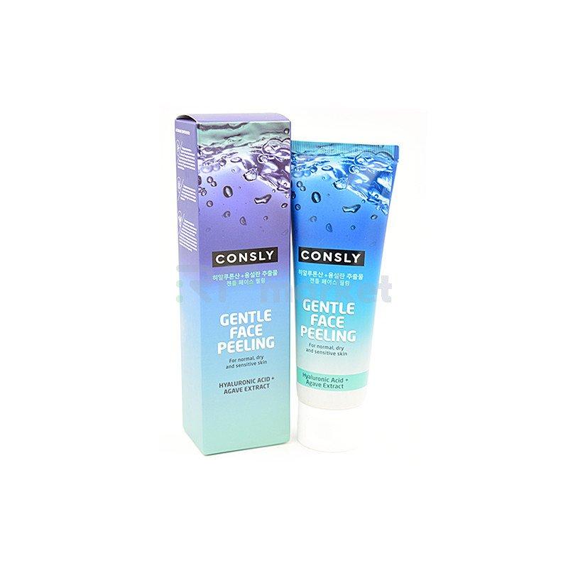 Consly Гель для деликатного очищения - Gentle face peeling with hyaluronic acid and agave, 120мл