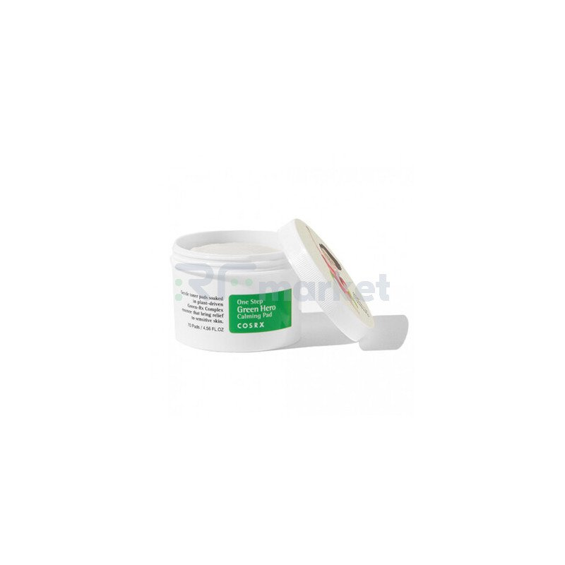 Cosrx Пады для лица успокаивающие - One step green hero calming pad, 70шт