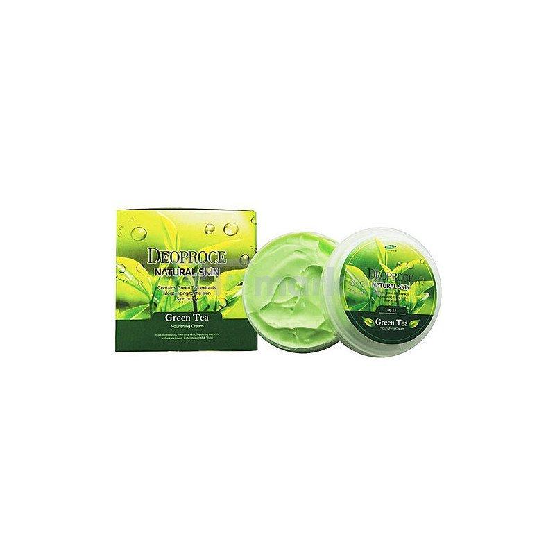Deoproce Крем для лица и тела с зеленым чаем - Natural skin greentea nourishing cream, 100г