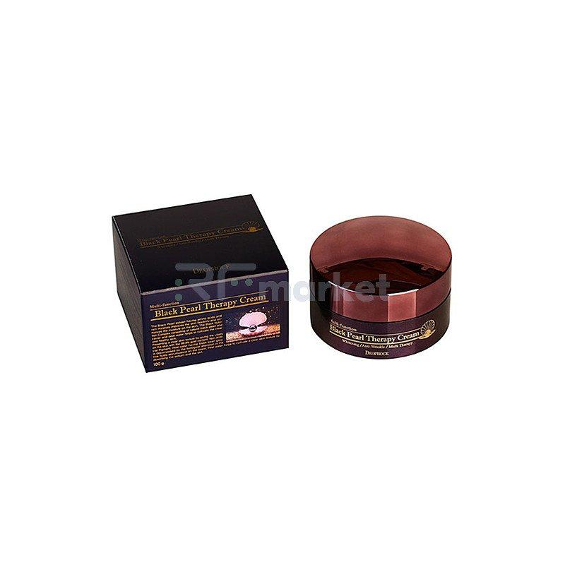 Deoproce Крем для лица с черным жемчугом антивозрастной - Black pearl therapy cream, 100г