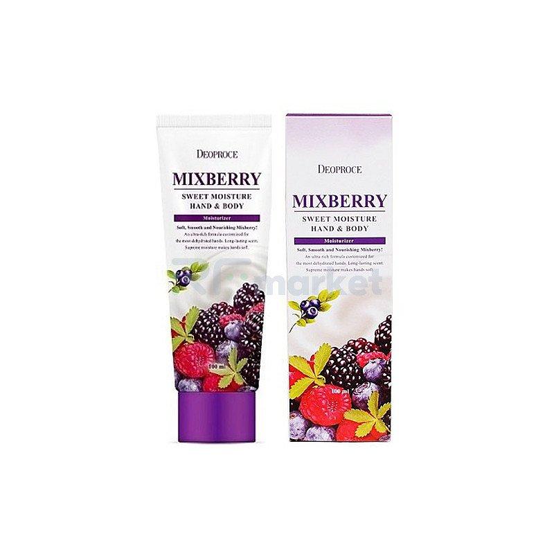 Deoproce Крем для рук и тела питательный лесные ягоды - Mixberry sweet moisture hand and body, 100мл