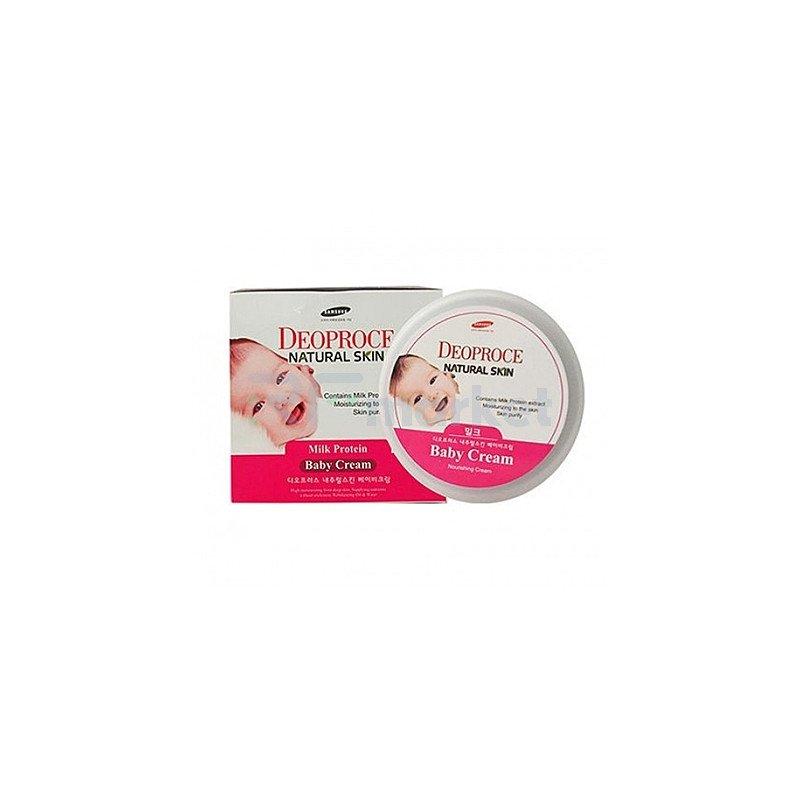 Deoproce Крем питательный на молочных белках - Natural skin baby cream, 100г