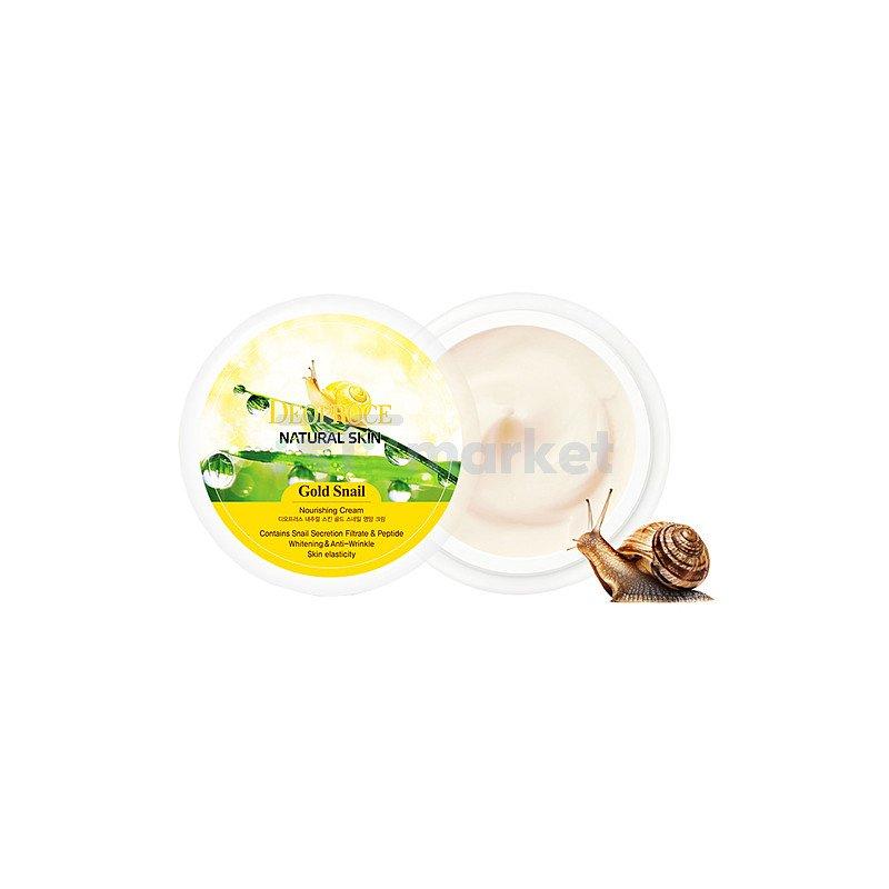 Deoproce Крем питательный с золотом и муцином улитки - Skin gold snail nourishing cream, 100мл