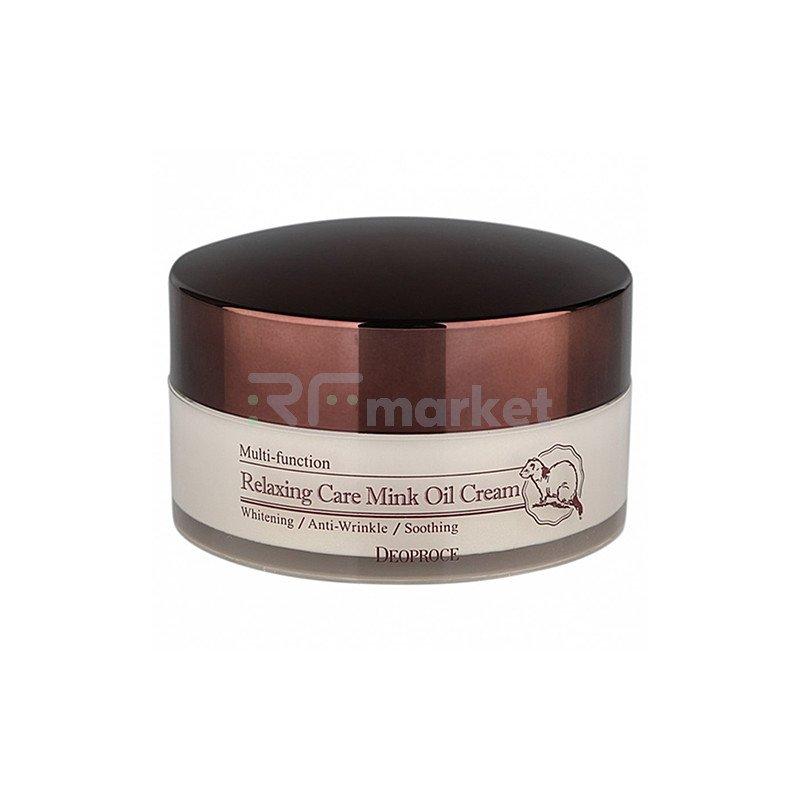 Deoproce Крем расслабляющий с жиром норки - Relaxing care mink oil cream, 100г