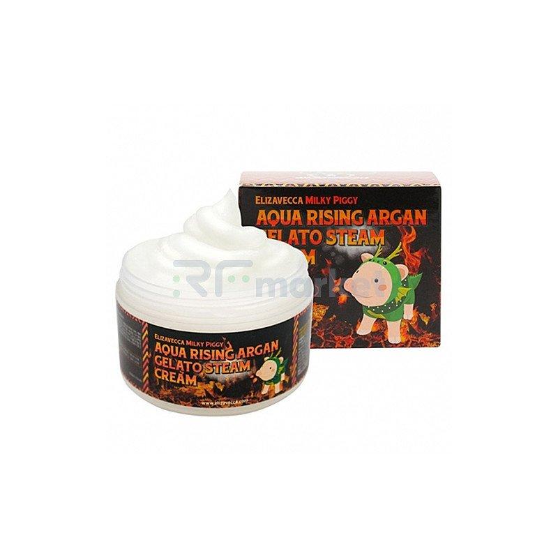 Elizavecca Крем для лица с аргановым маслом - Aqua rising argan gelato steam cream, 100г