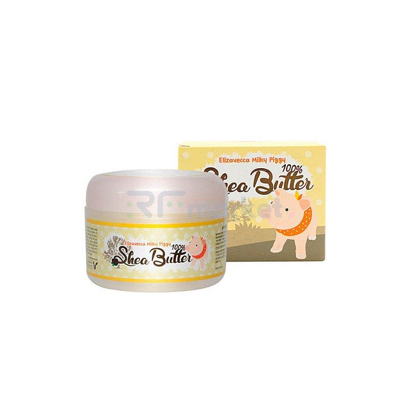 Elizavecca Крем универсальный питательный с маслом ши - Milky piggy shea butter 100%, 88г