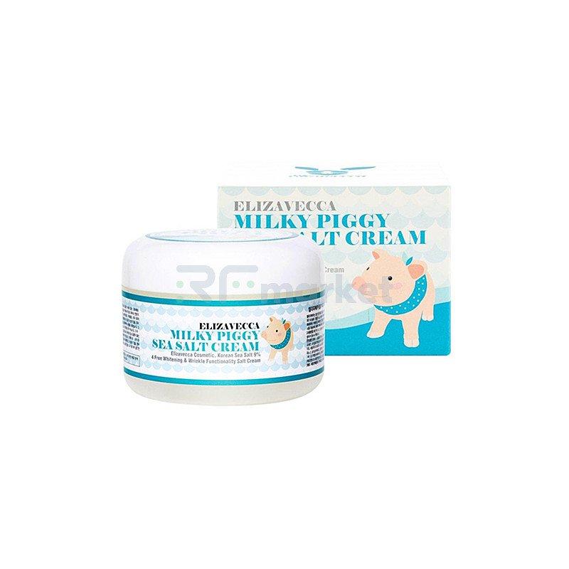 Elizavecca Крем увлажняющий - Milky piggy sea salt cream, 100г