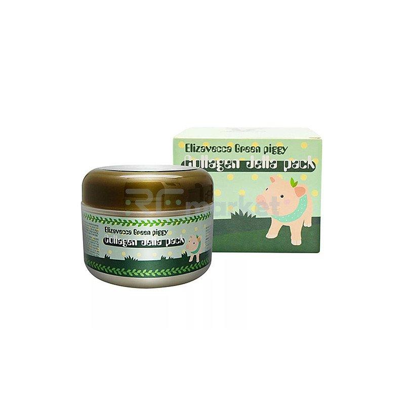 Elizavecca Маска коллагеновая - Green piggy collagen jella pack, 100мл