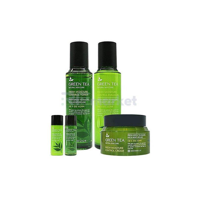 Enough Набор для лица с зеленым чаем - En№6 green tea moisture control 3set