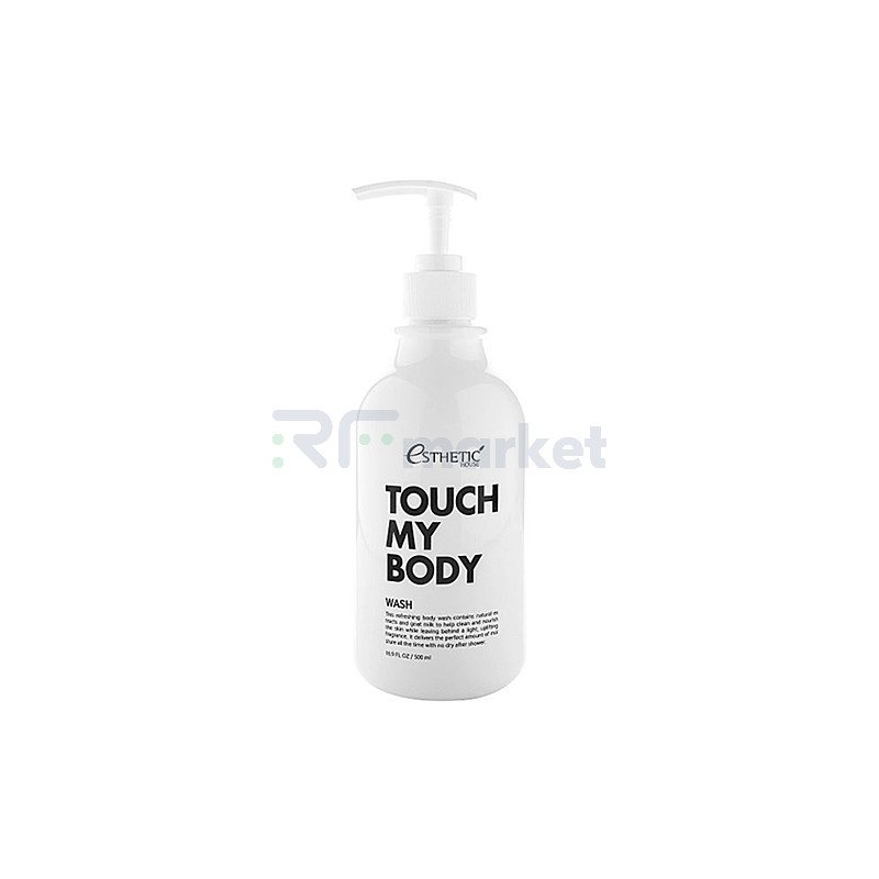 Esthetic House Гель для душа на основе козьего молока - Touch my body goat milk body wash, 500мл