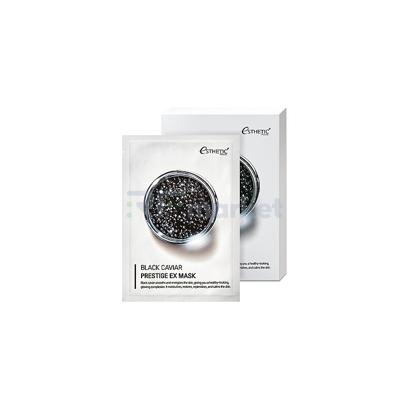 Esthetic House Маска тканевая для лица черная икра - Black caviar prestige ex mask, 25мл