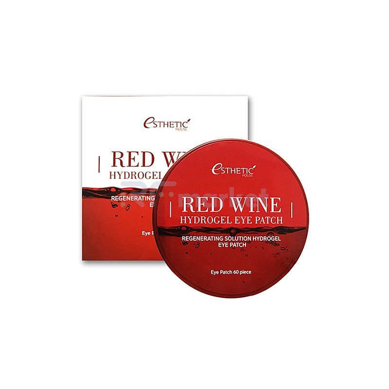 Esthetic House Патчи гидрогелевые с экстрактом красного вина - Red wine hydrogel eye patch, 60шт