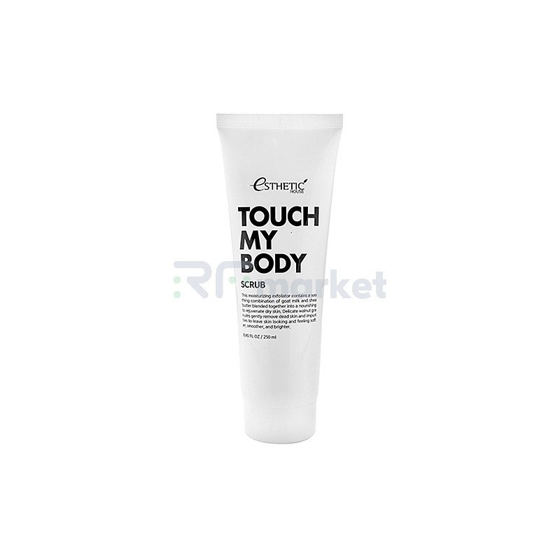 Esthetic House Скраб для тела на основе козьего молока - Touch my body goat milk body scrub, 250мл