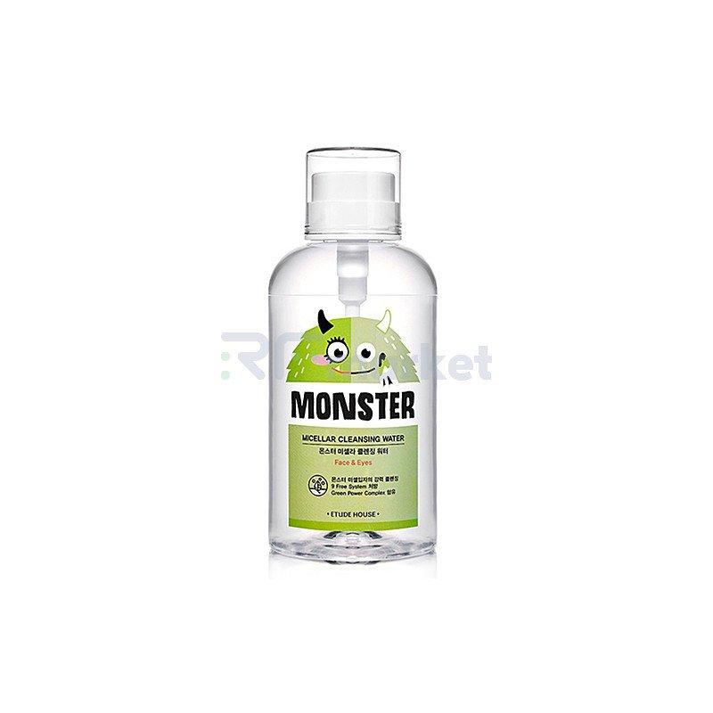 Etude House Вода мицеллярная - Monster micellar cleansing water, 700мл