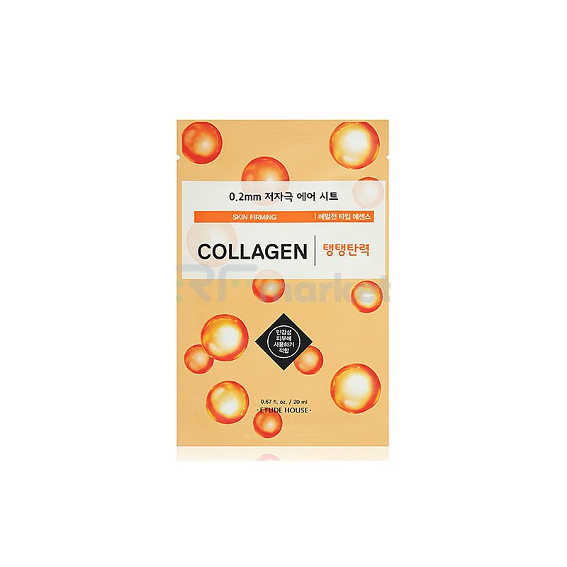Etude House Маска для лица тканевая с колагеном - Therapy air mask collagen skin firming, 20мл