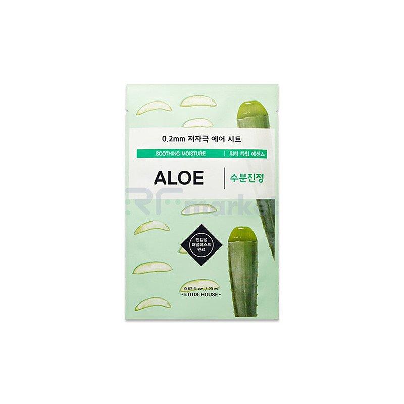 Etude House Маска тканевая с экстрактом алоэ 0.2 - Therapy air mask aloe, 20мл