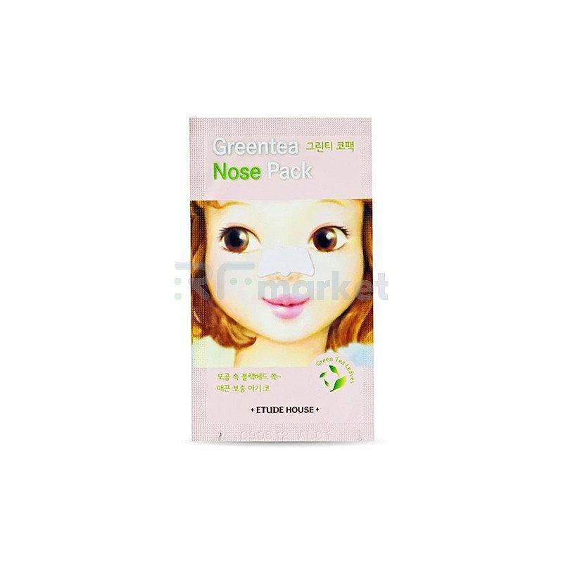 Etude House Патч очищающий для носа - Greentea nose pack AD, 0,65г