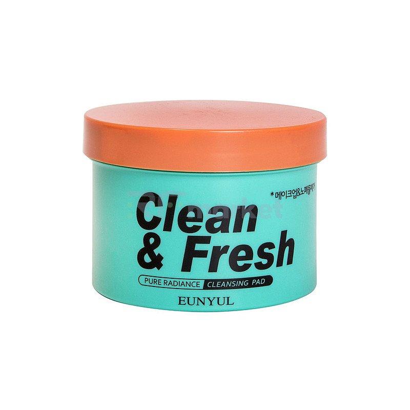 Eunyul Диски очищающие для снятия макияжа - Clean & fresh pure radiance cleansing pad, 70шт