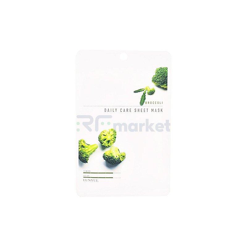 Eunyul Маска тканевая для лица с экстрактом брокколи - Broccoli daily care sheet mask, 22г