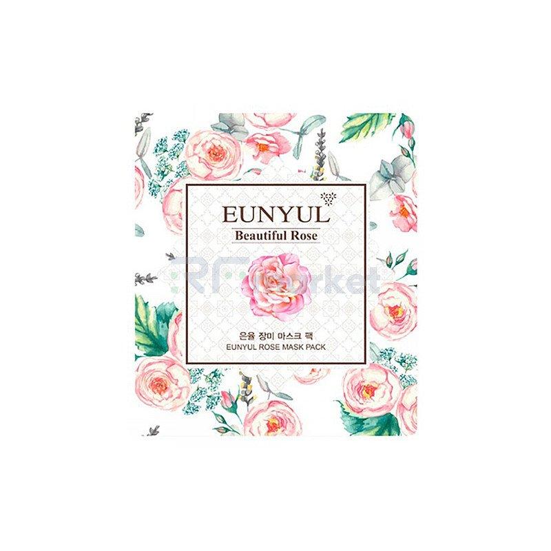 Eunyul Маска тканевая для лица с экстрактом розы - Beautiful rose mask pack, 30мл