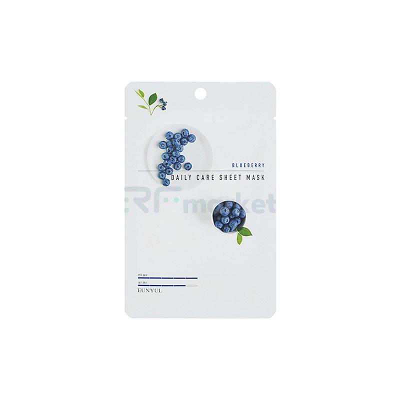 Eunyul Маска тканевая для лица с экстрактом черники - Blueberry daily care sheet mask, 22г